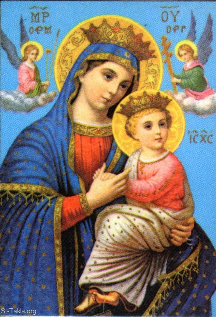 Saint Mary and Jesus